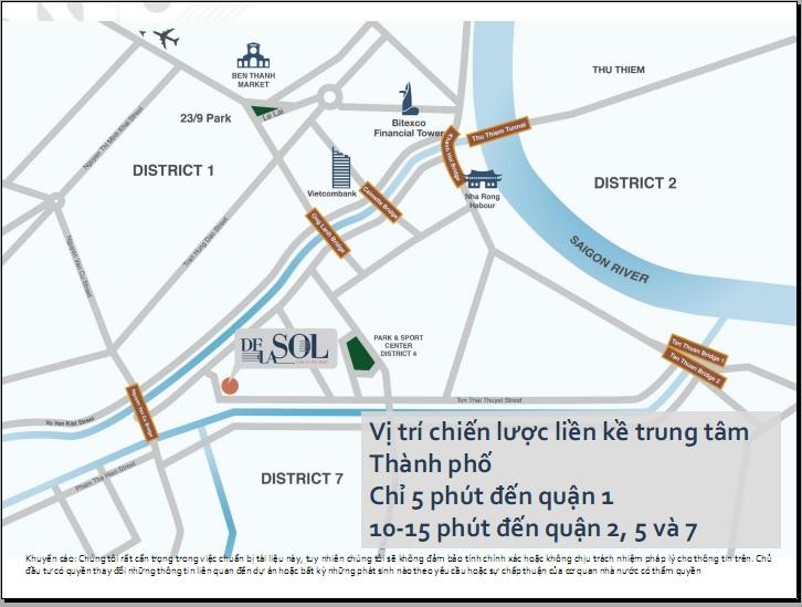 Khu phức hợp Chung cư De La Sol Capitaland Việt Nam nằm ven sông Sài Gòn