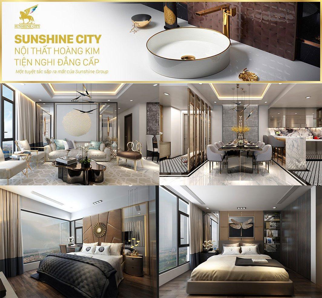 Nội thất căn 1 phòng ngủ Sunshine City Sài Gòn đẳng cấp ra sao?