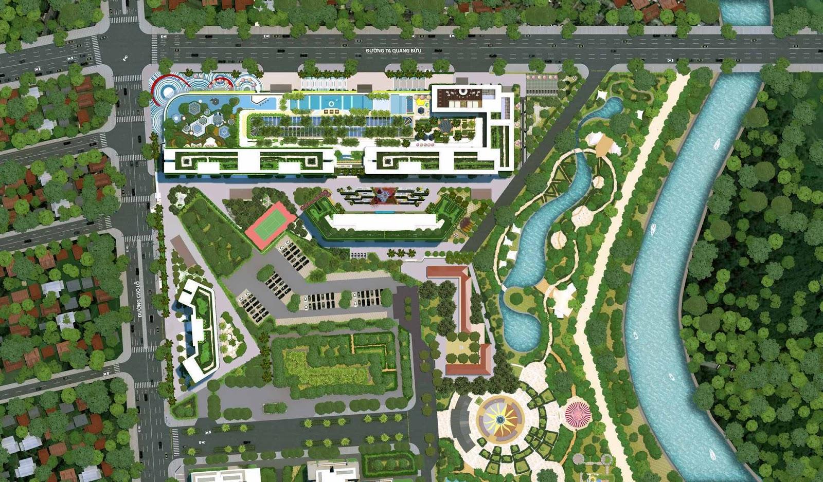 Mặt bằng thiết kế dự án Laimian City Quận 2