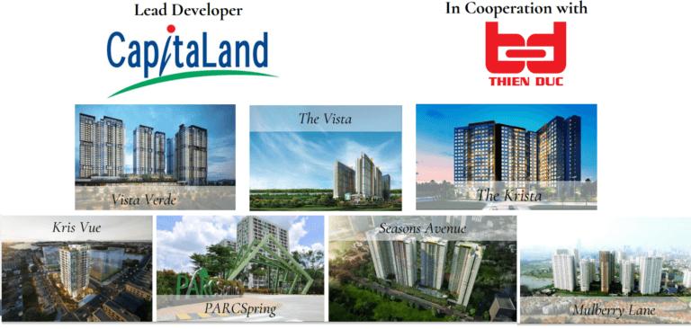Môi trường sống tại các dự án của Capitaland ra sao?