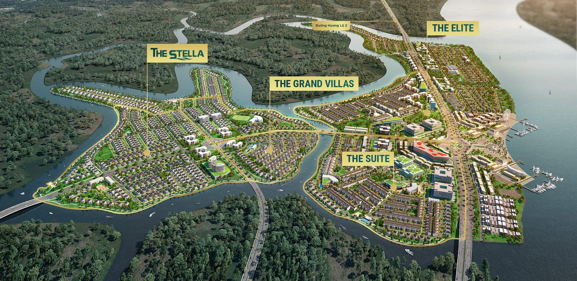 Thông tin các phân khu của dự án Aqua City