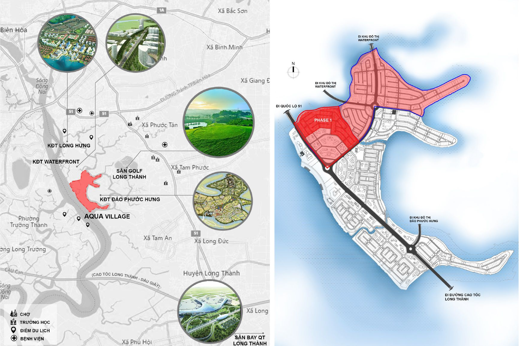 Thông tin vị trí dự án Aqua City